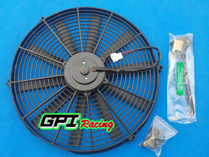 16 12v Slim Radiator Cooling Thermo Fan mounting universal Electric Fan