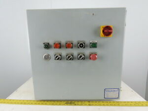 24x24x10 Type 12 Electrical Enclosure 3 Motor Control Panel 3 4 1hp 480v
