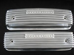 Offy 2727 Ford Y Block 1954 And Up 259 Thru 312 Finned Valve Cover Set