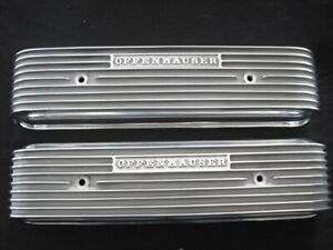 Offy 3286 7 Oldsmobile 1957 Thru 58 All V 8 s Finned Valve Cover Set