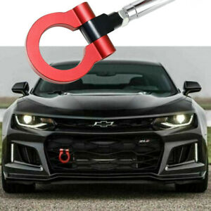 Red Sport Racing Style Aluminum Tow Hook Ring For Chevrolet Camaro 2016 2019