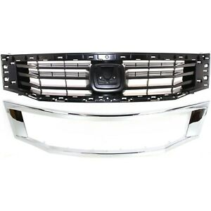 Grille For 2008 2010 Honda Accord Sedan Kit Paint To Match Plastic