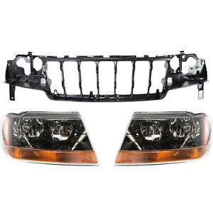 Headlight Kit For 1999 2002 Jeep Grand Cherokee 3pc