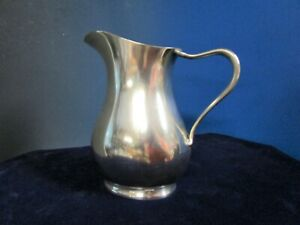 Us Navy 1 Pint Pitcher Reed Barton Silverplate Engraved Usn On Bottom 1942 3