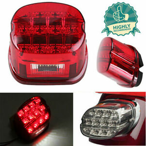 12led Tail Light Assembly For Harley Softail Electra Brake Stop Red Sportster