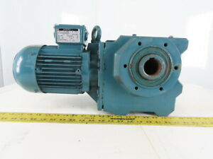 Bauer 278980 2 1hp Gear Motor Hollow Thru Shaft 230 460v 3ph 11 5 Rpm