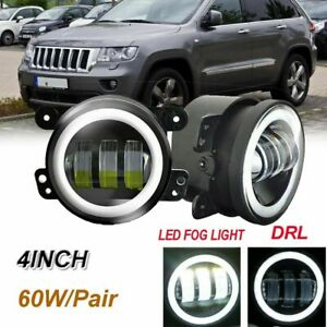 For 2011 2013 Jeep Grand Cherokee Clear Lens Projector Fog Lights Bumper Lamps