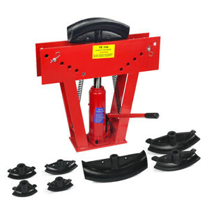 16 Ton Hydraulic Pipe Bender Manual Tubing Exhaust Tube Bending W Dies Set