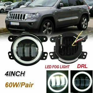 For 2011 2013 Jeep Grand Cherokee Clear Projector Fog Lights Bumper Lamps Pair