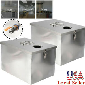 Grease Trap Interceptor Filter Kit Kitchen Commercial Stainless Steel 5gpm 8lb