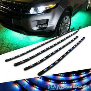 Led Under Car Glow Underbody Neon Glow Strip Lights Remote Kit 36