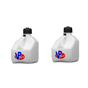 Vp Racing Fuels 3 Gallon Heavy Duty Portable Racing Utility Jug White 2 Pack