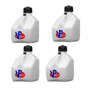 Vp Racing Fuels 3 Gallon Square Heavy Duty Racing Utility Jug White 4 Pack