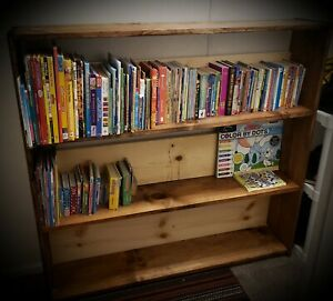 Custom Built Solid Wood Book Shelf