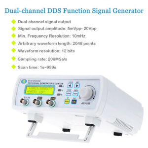 New 6mhz High Precision Dual channel Dds Function Signal Generator Counter F8p3
