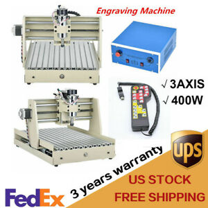 3 Axis 3040 Cnc Router Engraver Carving Milling Machine 400w Spindle W handwheel