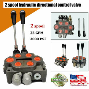 2 Spool Hydraulic Directional Control Valve Double Acting Cylinder Spool Us