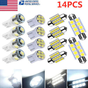 14x Car Led Bulb Lighs Interior Dome Map Trunk Lamps White T10 Festoon 168 578
