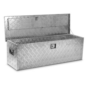 48 L Aluminum Truck Underbody Tool Box Trailer Rv Tool Storage Under Bed W Lock