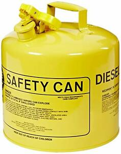 Eagle Ui 50 sy Type I Metal Safety Can Diesel 5 Gallon Capacity Yellow