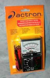 Actron Analog Pocket Electrical Tester Cp7848 Authorized Distributor