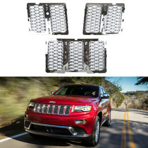 Chrome Honeycomb Mesh Grille Grill Insert For 2014 2016 Jeep Grand Cherokee