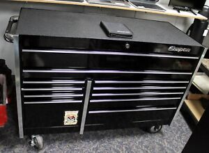 Snap On 54 11 Drawer Double Bank Masters Series Roll Cab Krl722bpc Gloss Black