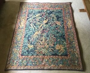 Large French Wall Tapestry The Aristoloches Leaves Tapisseries Du Lion France