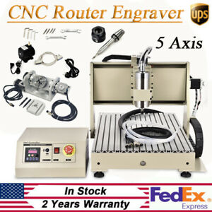 5 Axis Cnc Router 6040 3d Engraving Milling Machine Cutter 1500w Usb Port Kit
