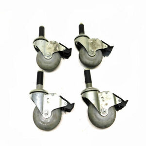 lot Of 4 Colson Performa Ball Bearing Swivel Casters 3 5 X 1 25 W 4 Brakes