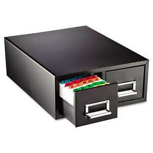 Steelmaster Drawer Card Cabinet Holds 3000 5 X 8 Cards Black N a