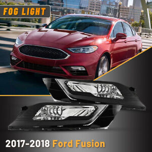 For 2017 2018 Ford Fusion Driving Lamp Bumper Replace Part Fog Lights Wiring Kit