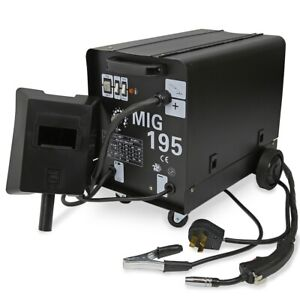 Mig 195 Amp 220v Welder Flux Stainless Aluminum Welding Machine Gas No Gas