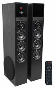 Tower Speaker Home Theater System wSub For LG SK8000 Television TV-Black