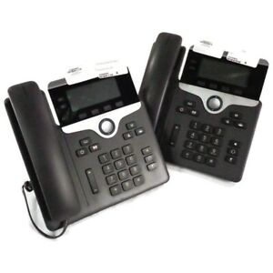 Lot Of 2 Cisco 7821 Two line Voip Office Desk Phone Cp 7821 k9