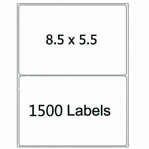 1500 Half Sheet Shipping Labels 8 5x5 5 Self Adhesive Round Corner Mailing Label