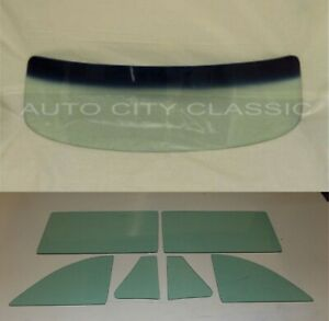Green Glass 1952 1953 Buick Olds Coupe Convertible Windshield Vent Door Quarter