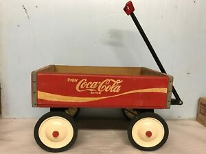 VINTAGE COCA-COLA CRATE WAGON WOODEN STURDY 24