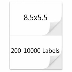 8 5 X 5 5 Shipping Labels Half Sheet Self Adhesive Direct Corner Address Mailing