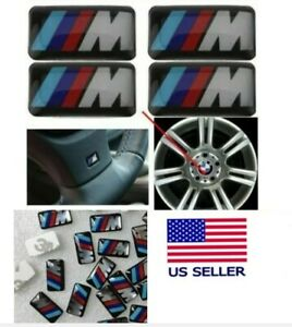 Bmw M Wheel Decal Badge Emblem Steering M Tech M Sport M1 M2 M3 M4 M5 M6 Set 4 5