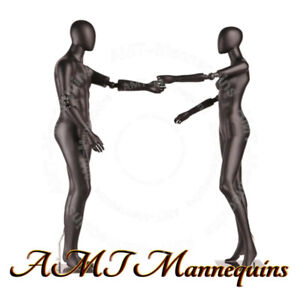 Female Male Full Body High End Mannequins flexible Arms stands Dancing Couple