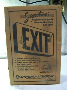 New Lithonia Lighting Die Cast Led Emergency Exit Sign Le s 2 r 120 277 el n sd