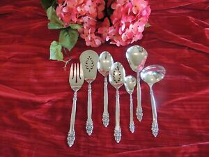 Spanish Crown 7 Piece Silverplate Hostess Set Oneida Desert Sugar Spoon Pie Cake