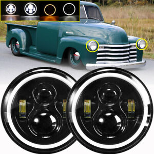 2x 7 Inch 280w Led Headlight Round Hi Lo Sealed Beam For Chevy Pickup Truck 3100