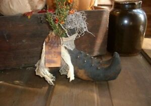 Wholesale 3 Primitive Handmade Halloween Fall Witches Boots