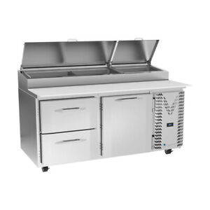 Victory Vppd67hc 2 67 Pizza Prep Table Refrigerated Counter