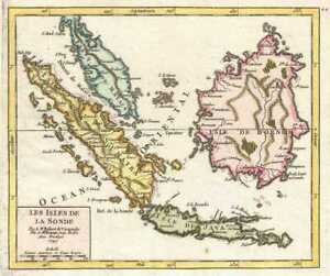 1749 Vaugondy Map Of Singapore Indonesia And Malay