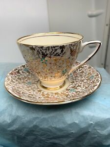 Vintage Royal Stafford Tea Cup And Saucer Sn 091