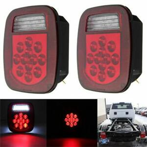2 Led Tail Light Brake Reverse Turn Signal For Jeep Wrangler Tj Cj 76 06 Lamp