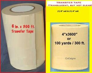 4 6 Application Transfer Paper Tape 300 Ft Roll For Vinyl Cutter Plotter